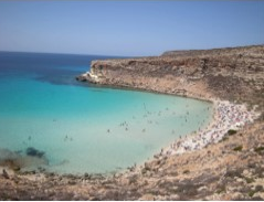 Rabbit Beach, Lampedusa, Italie