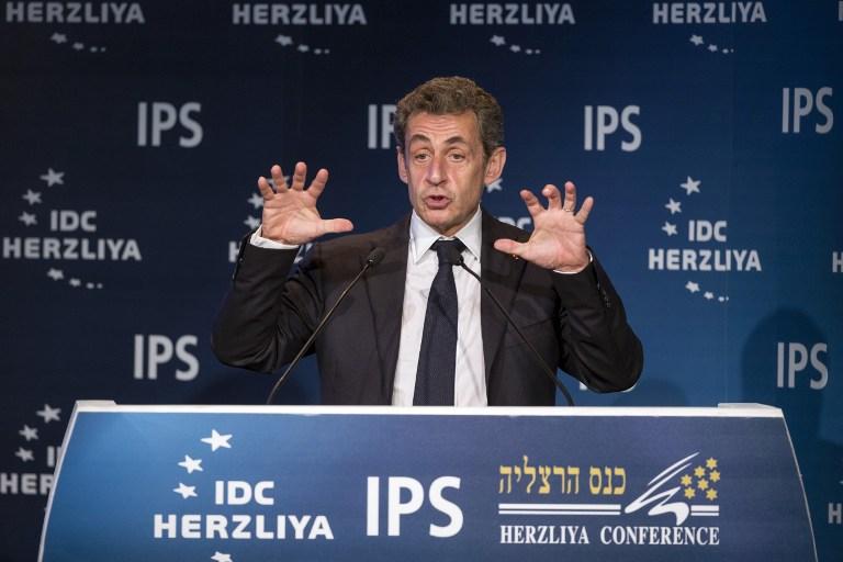 ISRAEL-FRANCE-DIPLOMACY-ECONOMY-CONFERENCE-SARKOZY