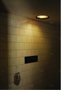 La chambre à gaz du Struthof. Photo DNA-David Geiss.