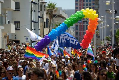 La Gay Pride à Tel-Aviv, le 12 juin 2015  Crédit Gili Yaari/Flash90