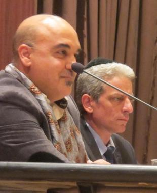 Nader Alami et Moché Lewin à la tribune.