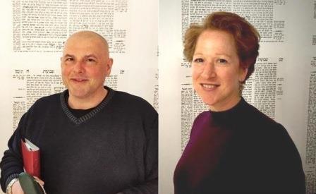 Le Rabbin René Pfertzel et la Présidente Pamela Vennin