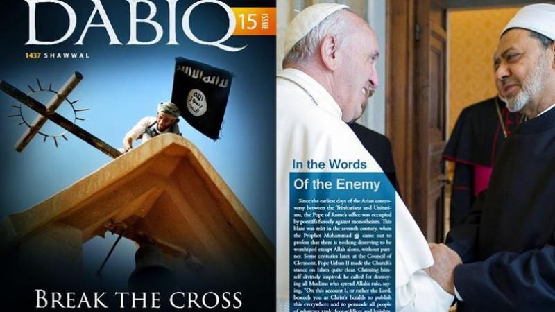 Le magazine de propagande de Daech s'en prend spécifiquement aux chrétiens.