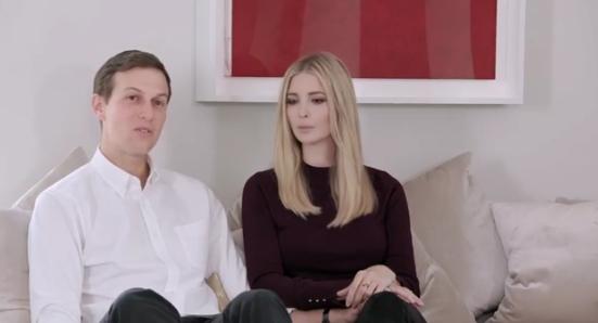 Jared Kushner et Ivanka Trump  Capture d'écran