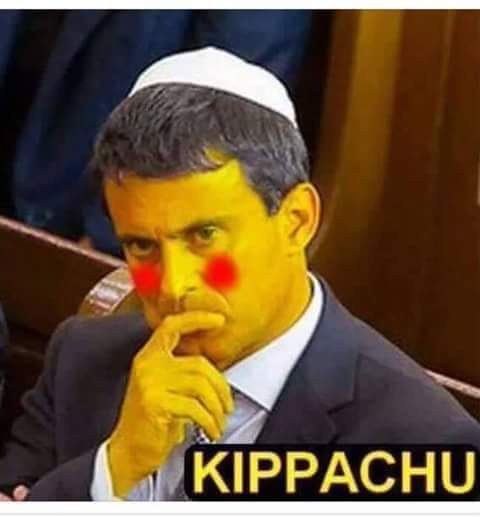 Valls = Kippachu pour les Islamistes, par Sarah Cattan