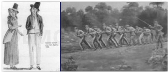 Les premiers Juifs d'Australie : quelques condamnés venus d'Angleterre, la chaîne aux pieds (fin 18ème siècle), puis des migrants libres en quête d'une nouvelle vie (début 19ème siècle).