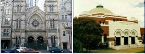 Synagogues de la rue Elisabeth à Sydney et  Saint-Kilda à Melbourne