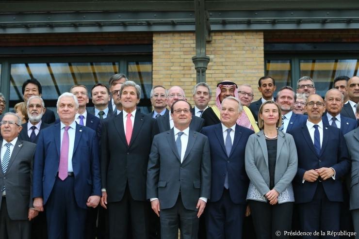 La Conférence d'adieu à Hollande-Obama-Kerry