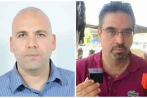 Left: Rabeeh Khoury holding SolidRun computers. Photo: offerte gracieusement Right:Kossay Omary. Photo via LinkedIn