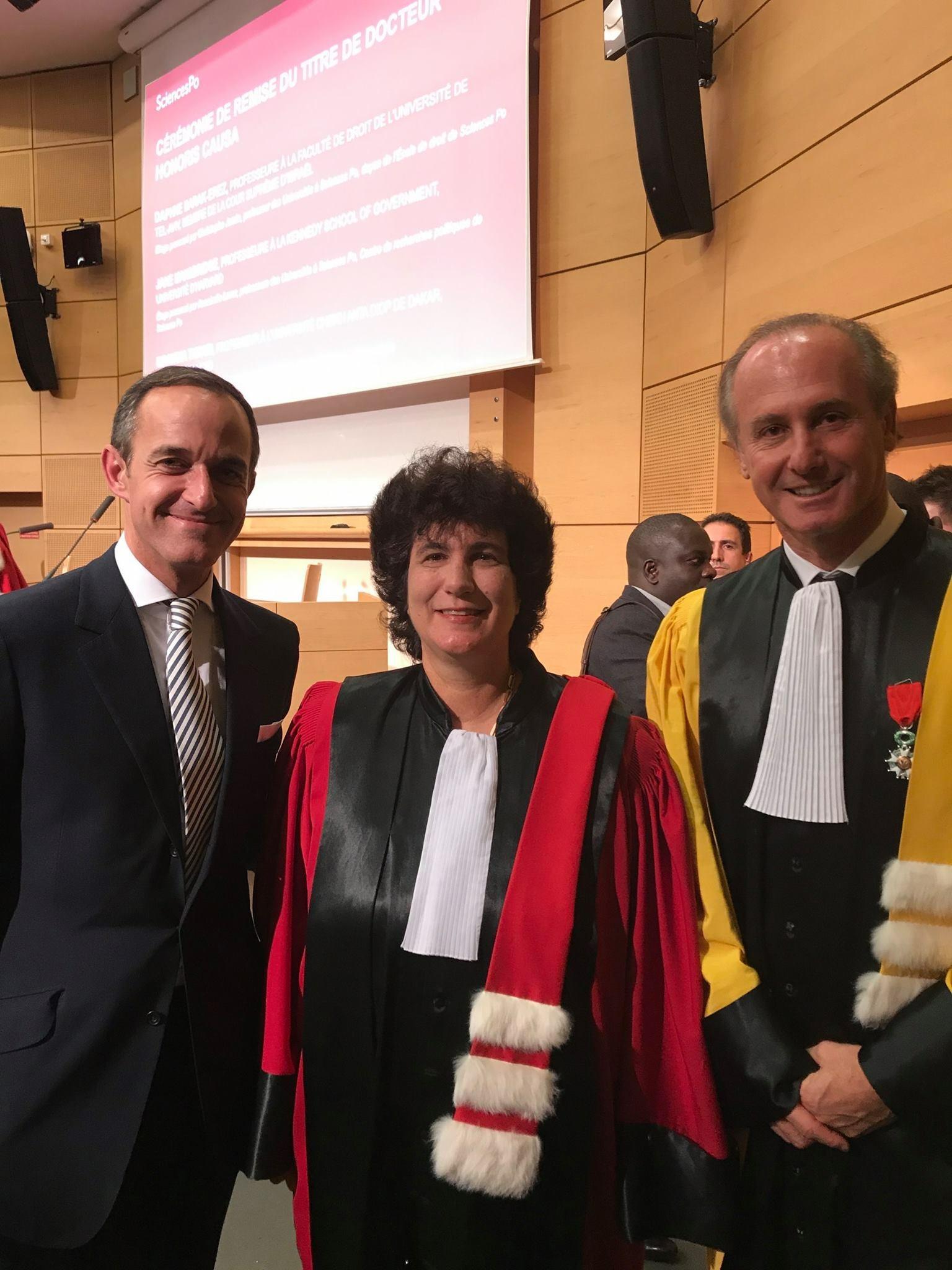Une juge de la Cour Suprême d'Israël nommée docteur honoris causa de Sciences Po