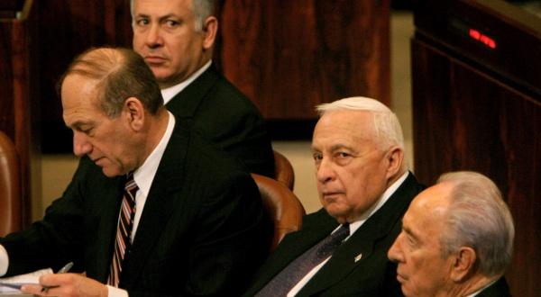 Benjamin Netanyahou, Ehud Olmert, Ariel Sharon et Shimon Peres, ...