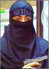 Une «veuve noire» lors de la prise d'otage du théâtre Doubrovka, à Moscou,