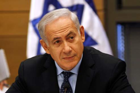 Israel's Prime Minister Benjamin Netanyahu attends a Likud party meeting at the Knesset in Jerusalem