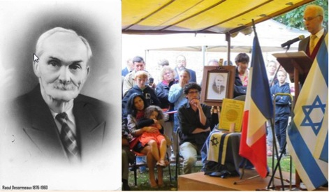 Cérémonie en l'honneur de Raoul Désormeaux (septembre 2014)