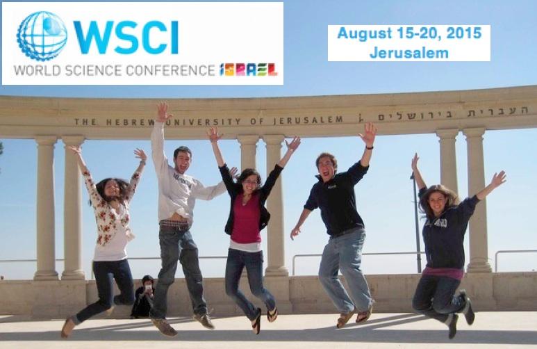 Août 2015 : conférence mondiale à l'Université Hébraïque de Jérusalem avec 400 jeunes génies et des prix Nobels