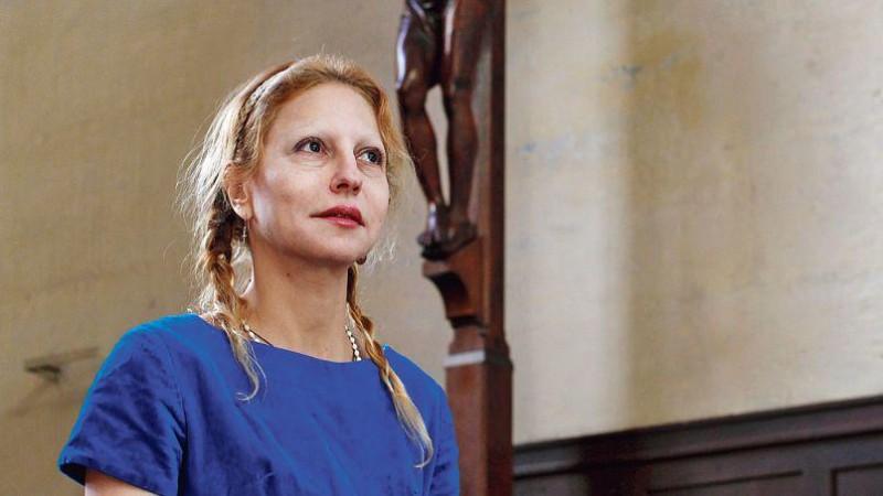 Véronique Lévy, le 6 mars, dans l'église Saint-Gervais, à Paris. Crédits photo : Jean-Christophe MARMARA/JC MARMARA/LE FIGARO