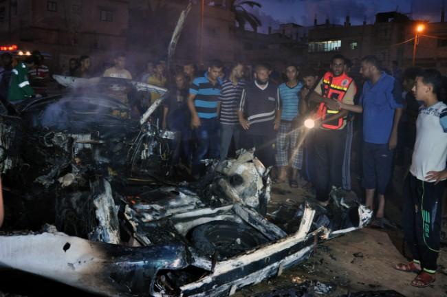 Après l'élimination ciblée d'un terroriste en zone habitée – Gaza juillet 2014 – Photo Abed Rahim Khatib / Flash 90