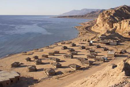 Le camp de touristes Moon Beach près de Nuweiba (Sinaï) – Photo Maxime Dinshtein / Flash 90