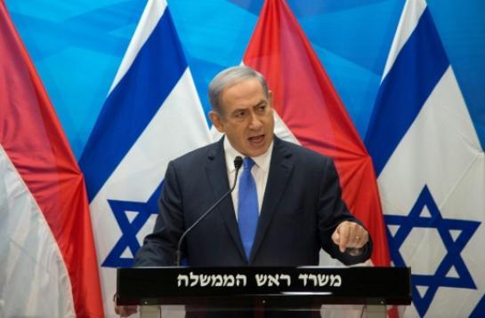 Le Premier ministre israélien Benjamin Netanyahu lors d'une conférence de presse le 14 juillet à Jérusalem (AFP/AHIKAM SERI)