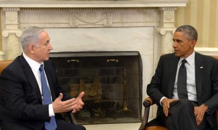 Rencontre entre le Premier ministre Binyamin Netanyahou et le président américain Barack Obama en 2014 – Crédit photo : Avi Ohayon/GPO