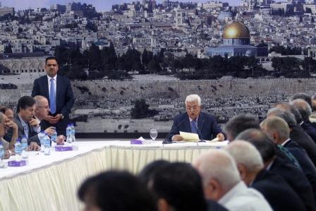 Un meeting de l'OLP – Crédit photo : Issam Rimawi