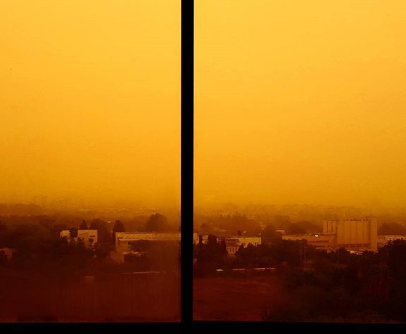 Une lumière quasi -apocalyptique, crédit photo Instagram