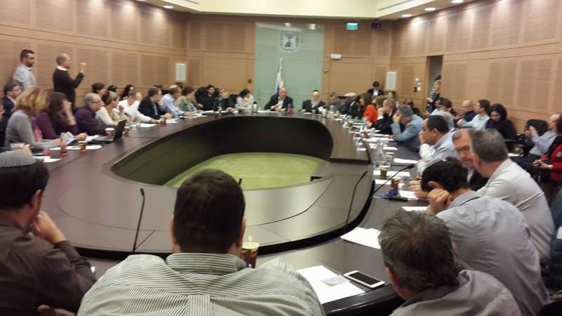 Réunion conjointe des commissions parlementaires de la Santé et de l'Intégration le 11 janvier 2015  Crédit: Esther Blum (Moetset Irgouné Olim)