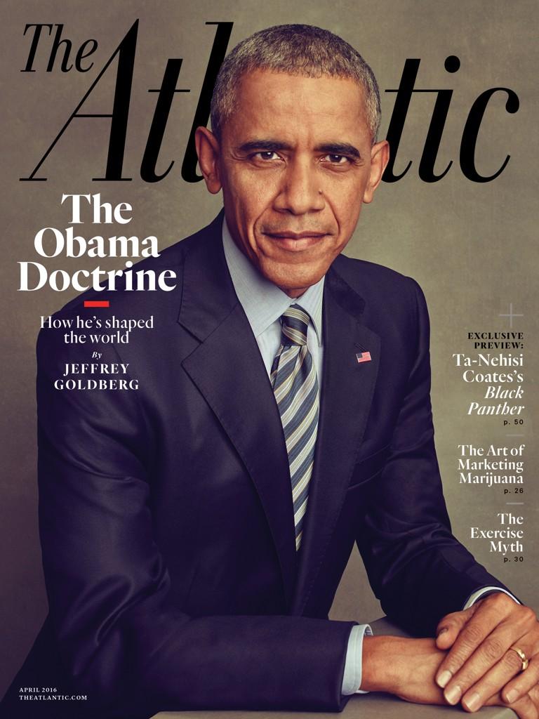Obama en couverture du magazine The Atlantic, mars 2016