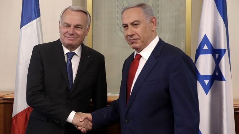 Jean-Marc Ayrault a présenté le projet du Quai d'Orsay au Premier ministre israélien