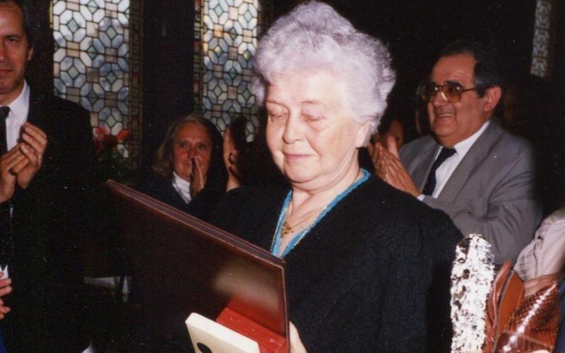 Vincennes. Lucienne Clément de l'Epine reçut la médaille des Justes d'Israël en 1990. (DR.)