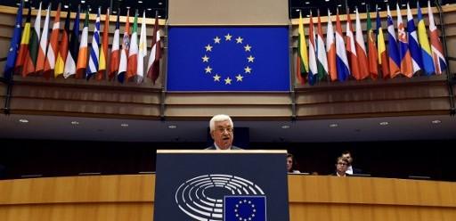 Mahmoud Abbas devant le Parlement européen le 23 juin