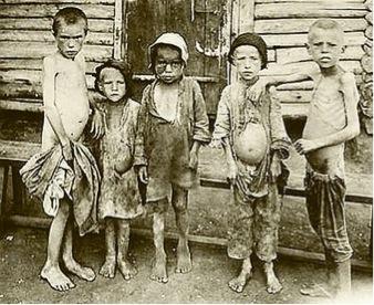 Enfants affamés en Union Soviétique 1922