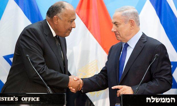 Rencontre Nétanyahou-Choukry à Jérusalem, le 10 juillet