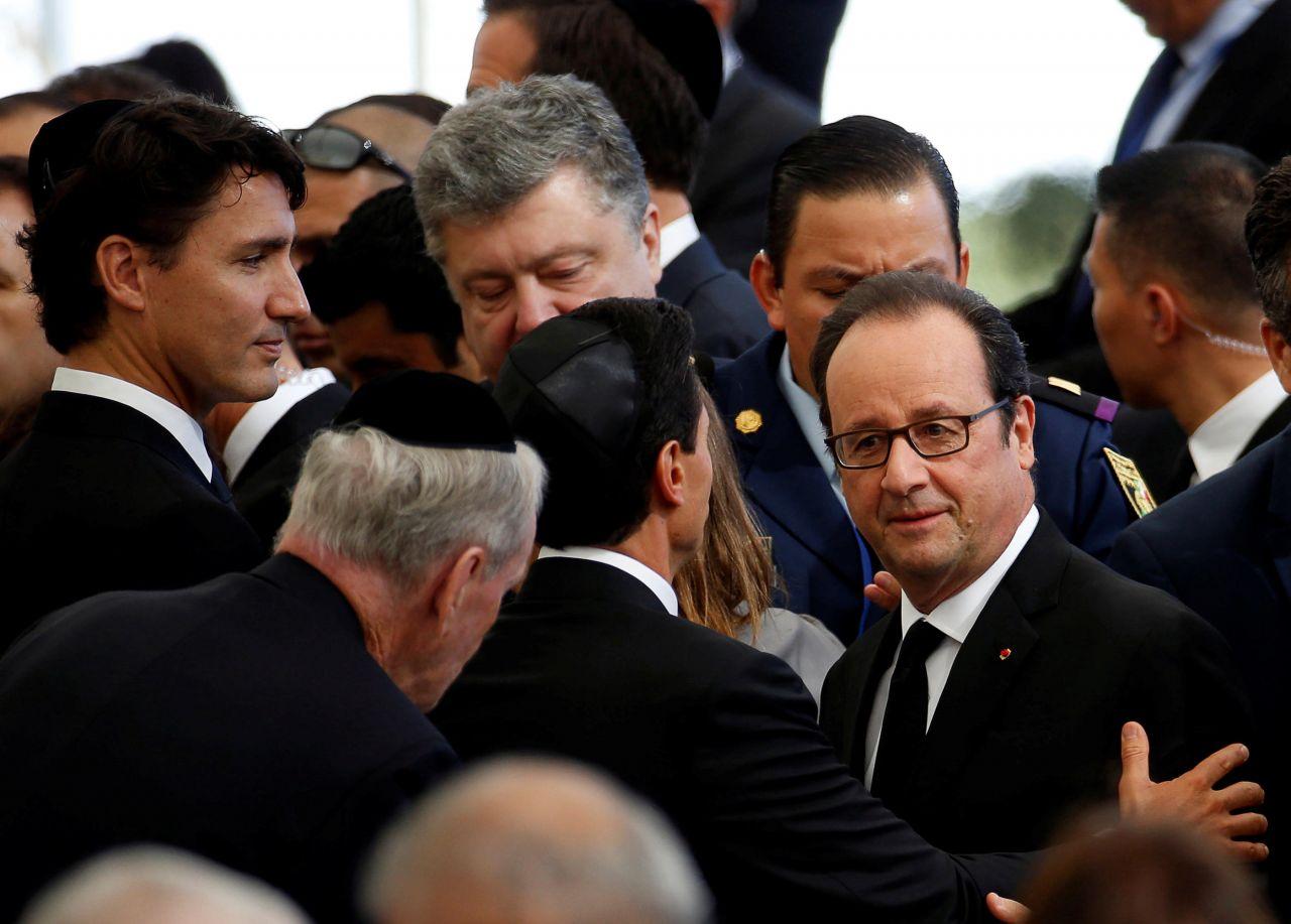 Le président français, François Hollande, est présent aux obsèques de Shimon Peres. (Reuters/Baz Ratner)