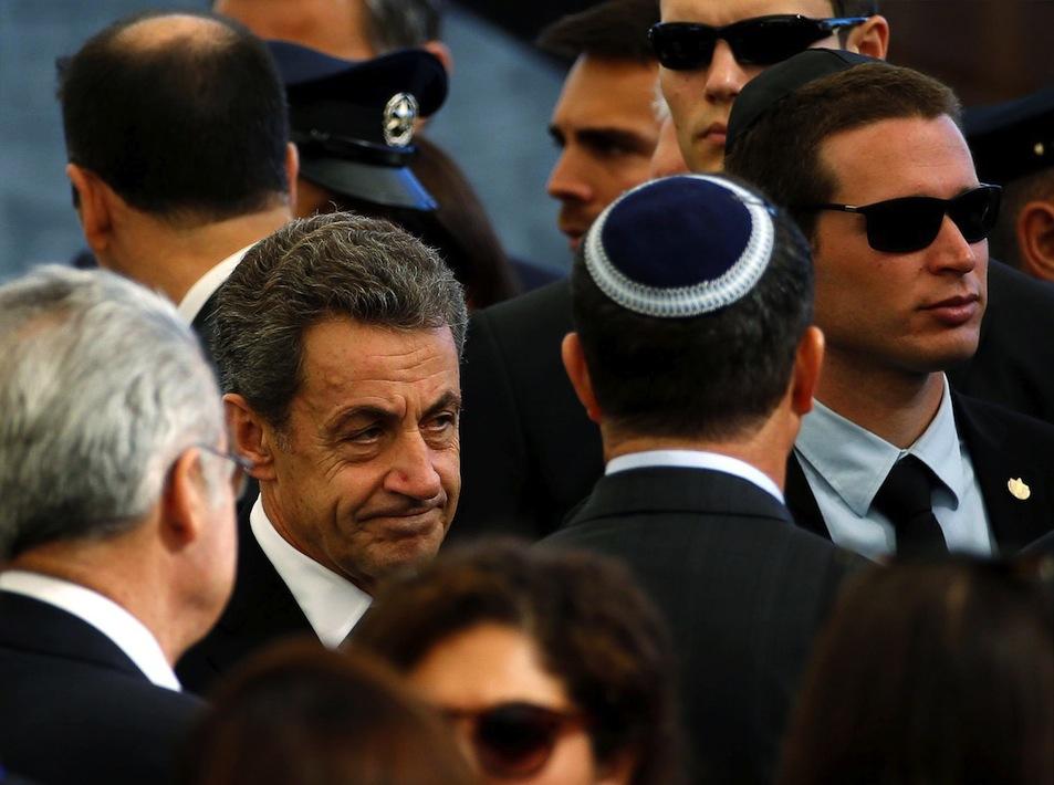 L'ex-chef de l'Etat français Nicolas Sarkozy, à Jérusalem ce vendredi.REUTERS/Baz Ratner
