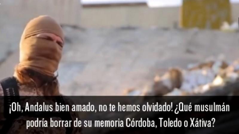 Dans une vidéo de propagande de l'Etat islamique, un djihadiste armé et masqué avertit l'Espagne qu'elle « paiera le prix fort » pour l'expulsion des musulmans d'al-Andalous il y a de cela plusieurs siècles. Le sous-titre en espagnol affirme « Oh Andalous bien aimé ! Tu pensais que avions oublié. Je jure par Allah que nous n'avons jamais oublié. Quel musulman pourrait bannir de sa mémoire Cordoue, Tolède ou Xativa ? »