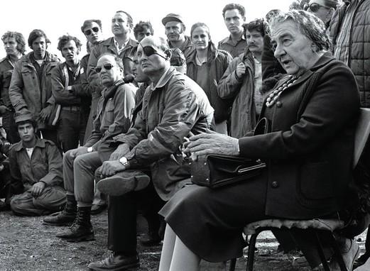 Golda Meir et Moshe Dayan pendant la guerre du Kippour (octobre 1973),DR