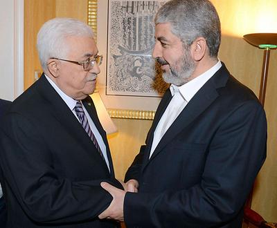 Il est temps pour Mahmoud Abbas (à gauche), Khaled Mashal et toute la bande de prendre conscience que la comédie a assez duré et qu'ils ont perdu.