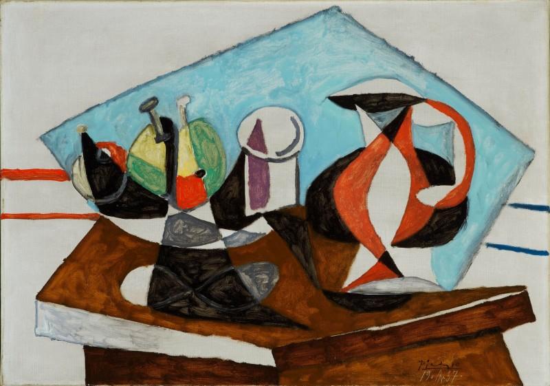 Pablo Picasso (1881-1973), Baigneur et baigneuses (Trois baignants), 1920-1921, Huile sur toile, 54 x 81 cm Collection David Nahmad, Monaco. © Succession Picasso © Photo: Collection David Nahmad, Monaco