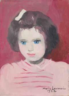 Marie Laurencin (1883-1956) Anne Sinclair à l'âge de quatre ans 1952, Huile sur toile, 27 x 22 cm Collection particulière © Fondation Foujita / ADAGP, Paris, 2016