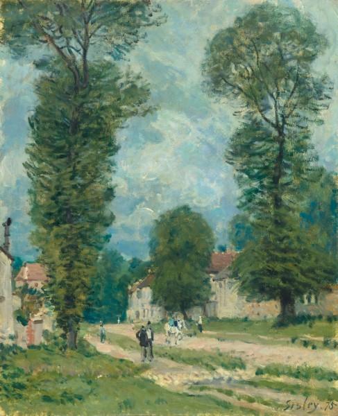 Alfred Sisley, La route de Versailles, 1875, Huile sur toile, 47 x 38 cm, Musée d'Orsay, Paris. - Photo © RMN-Grand Palais (musée d'Orsay) / Hervé Lewandowski