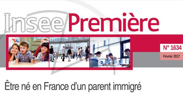 L'étude de l'Insee « Etre né en France d'un parent immigré », publiée en février 2017 permet d'entre-apercevoir la réalité démographique ethnique de la France.