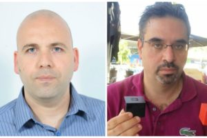 Left: Rabeeh Khoury holding SolidRun computers. Photo: offerte gracieusement Right:Kossay Omary. Photo via LinkedIn